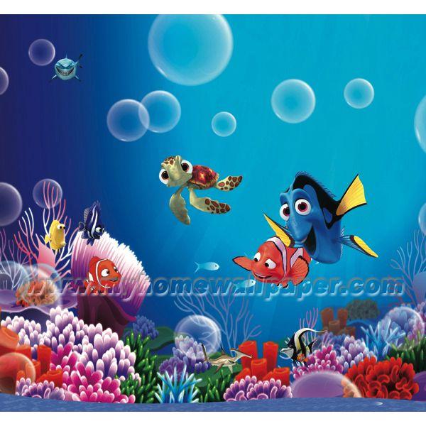fish murals for kids finding nemo cartoon wallpaper murals for kid 39 s