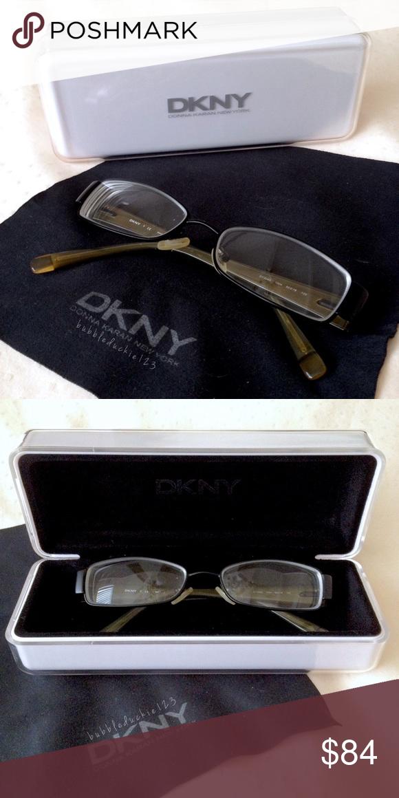 c94d54e7c2c1 DKNY eyeglasses   case Authentic Donna Karan New York designer glasses •  Classic rectangular frames in