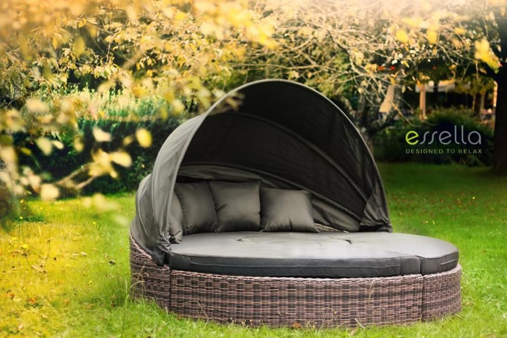 Polyrattan Sonneninsel Lounge Möbel Gartenmöbel Poly Rattan Rattan  Relaxinsel