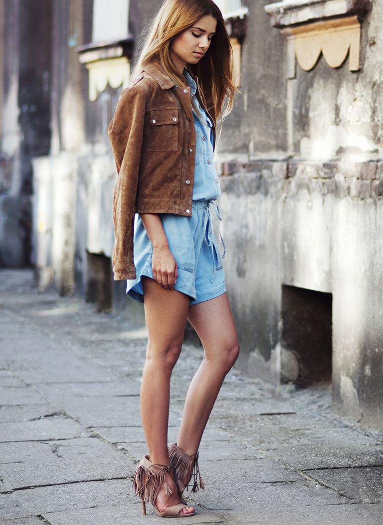 Sandalki Z Fredzlami Fringe Beige Heeled Sandals W Deezee Pl Fashion Suede Outfit Style