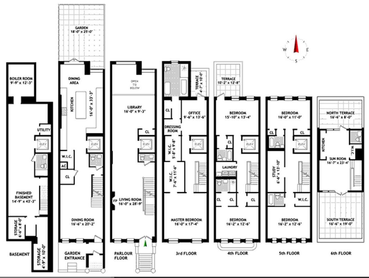 New York Townhouse Floor Plans Uk Nyc Mhargitay Ny