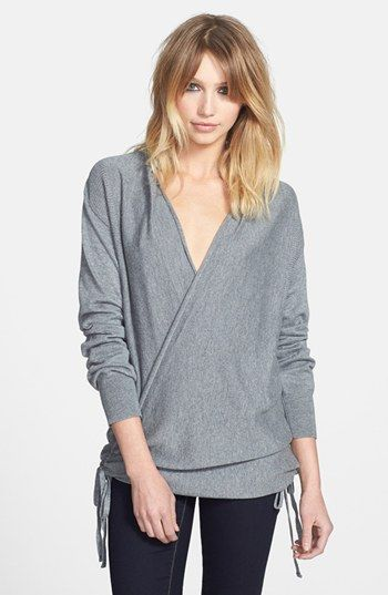 bdacad710 Leith Side Tie Wrap Sweater available at  Nordstrom