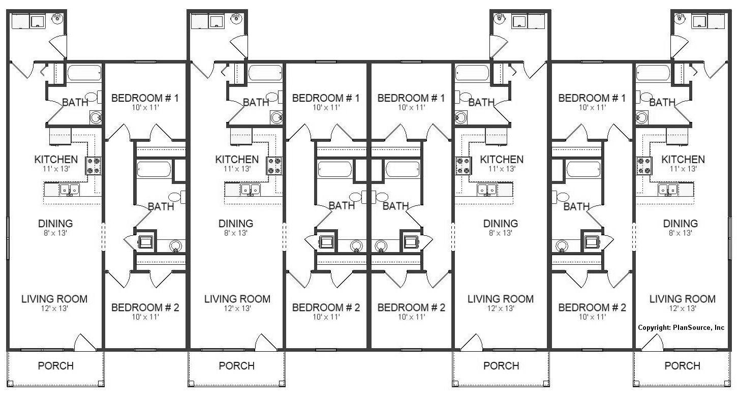 J0512 17 4 Floor Plan Layout Duplex Floor Plans Family House Plans Tiny House Floor Plans