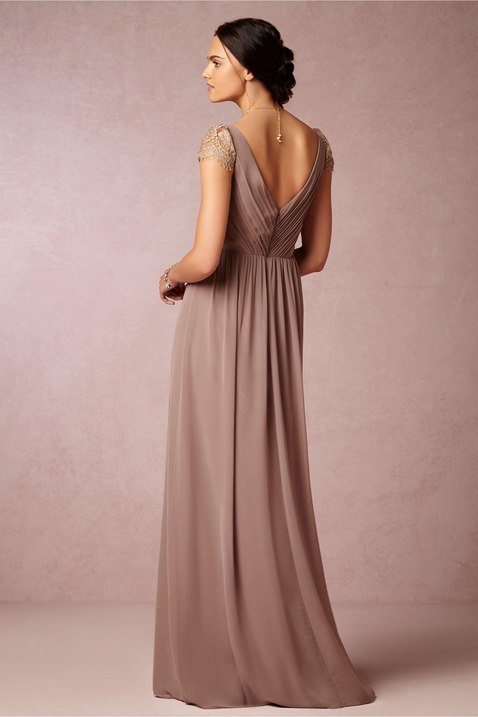 Evangeline Dress in dust mauve from BHLDN | The Bohemian Bride ...
