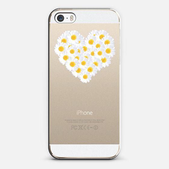 DAISY HEART   #daisy #heart #crystal #clear #iphone #case #cute #casetagram #monikastrigel