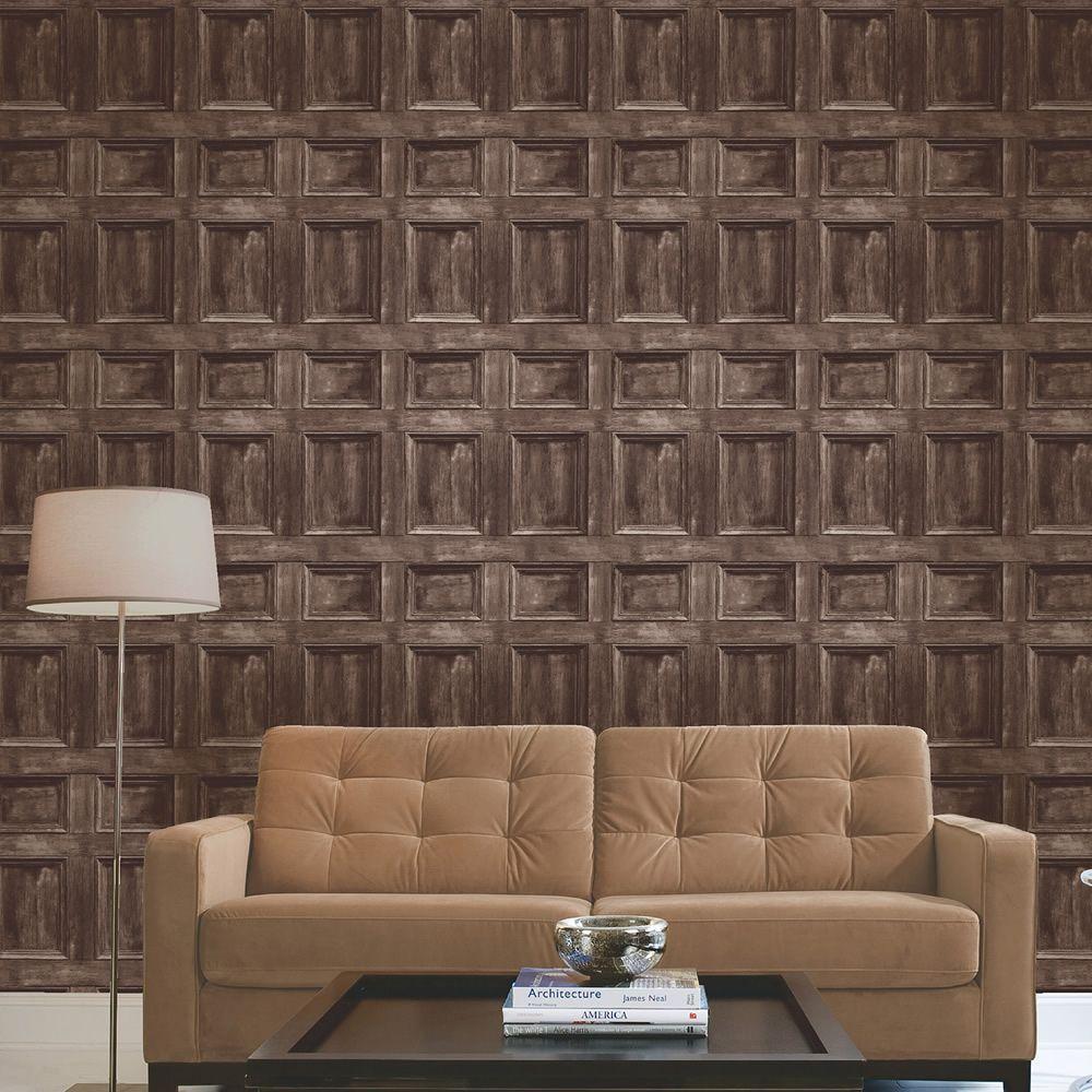 Distinctive Wood Panel Wallpaper Dark Brown Fine Decor Fd31055 Wood Paneling Wood Effect Wallpaper Wood Wallpaper