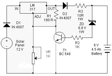 solar charger use ic lm317 charger circuit battery chargersolar charger use ic lm317