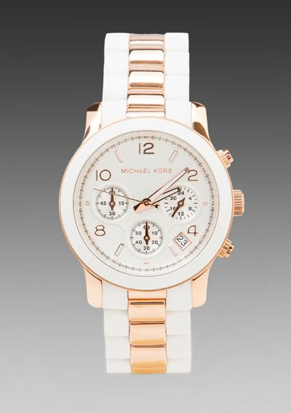 d83b777a7113 Runway Chronograph Watch in Whiterose Gold - Lyst