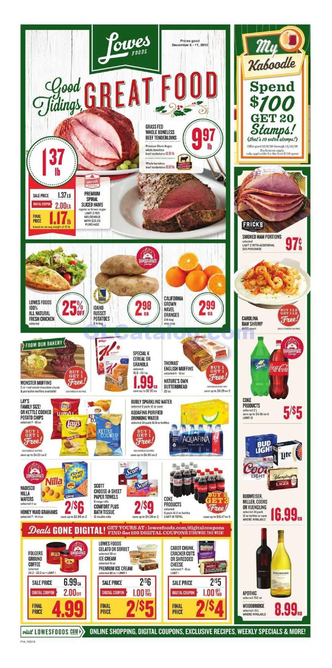Lowes foods Weekly Ad December 5 11, 2018. View the