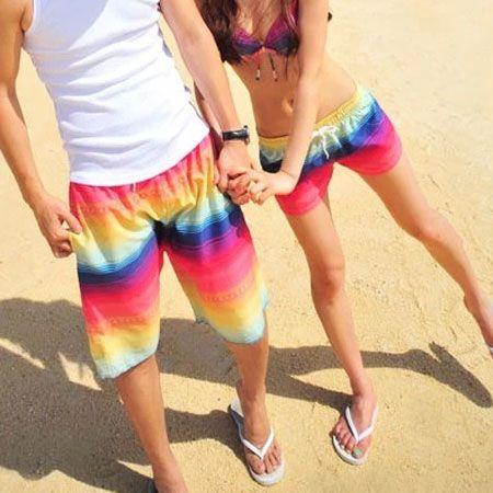d205b3ca0d $59.99 USDMatching Couple Swimsuit Colorful Print Bikini Top Shorts