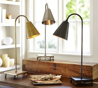 Lily Task Table Lamp   I Like The Gold For A Piano Lamp But It Could