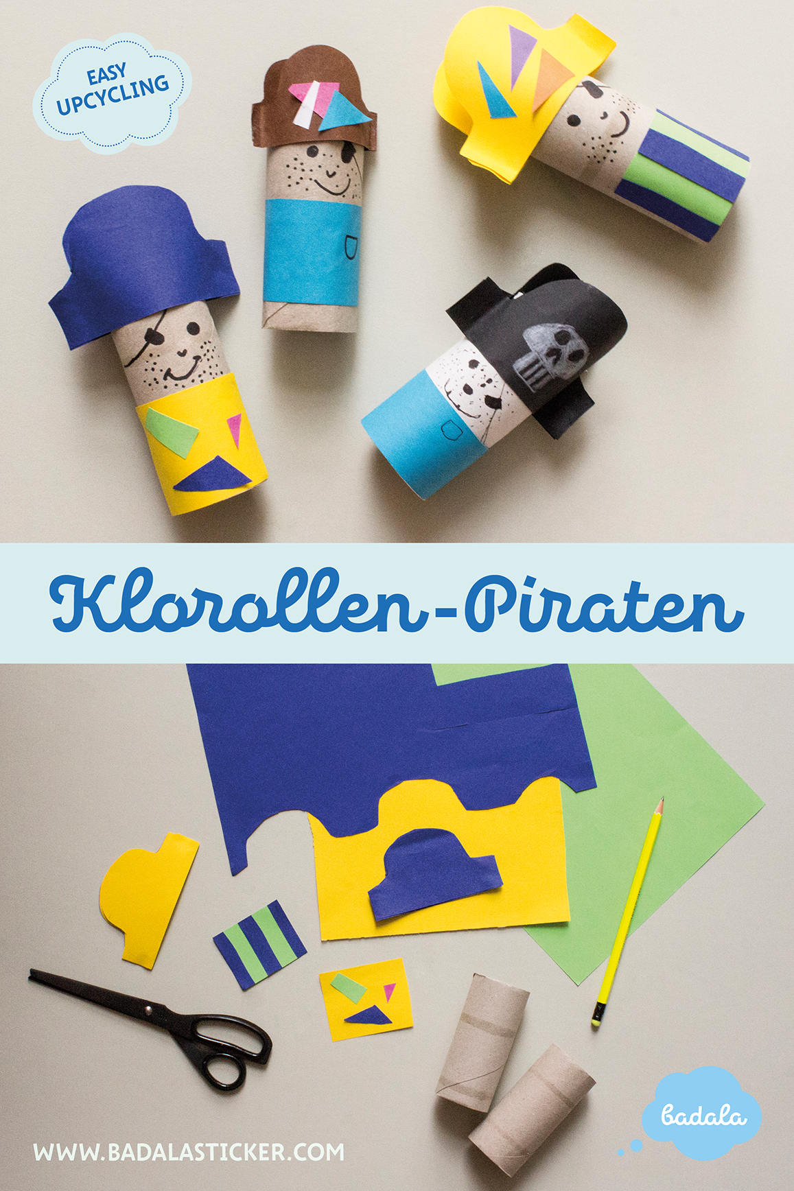 Bastelideen Klopapierrollen Klorollen Piraten In Sicht Craft Diy Recycle Manualidades