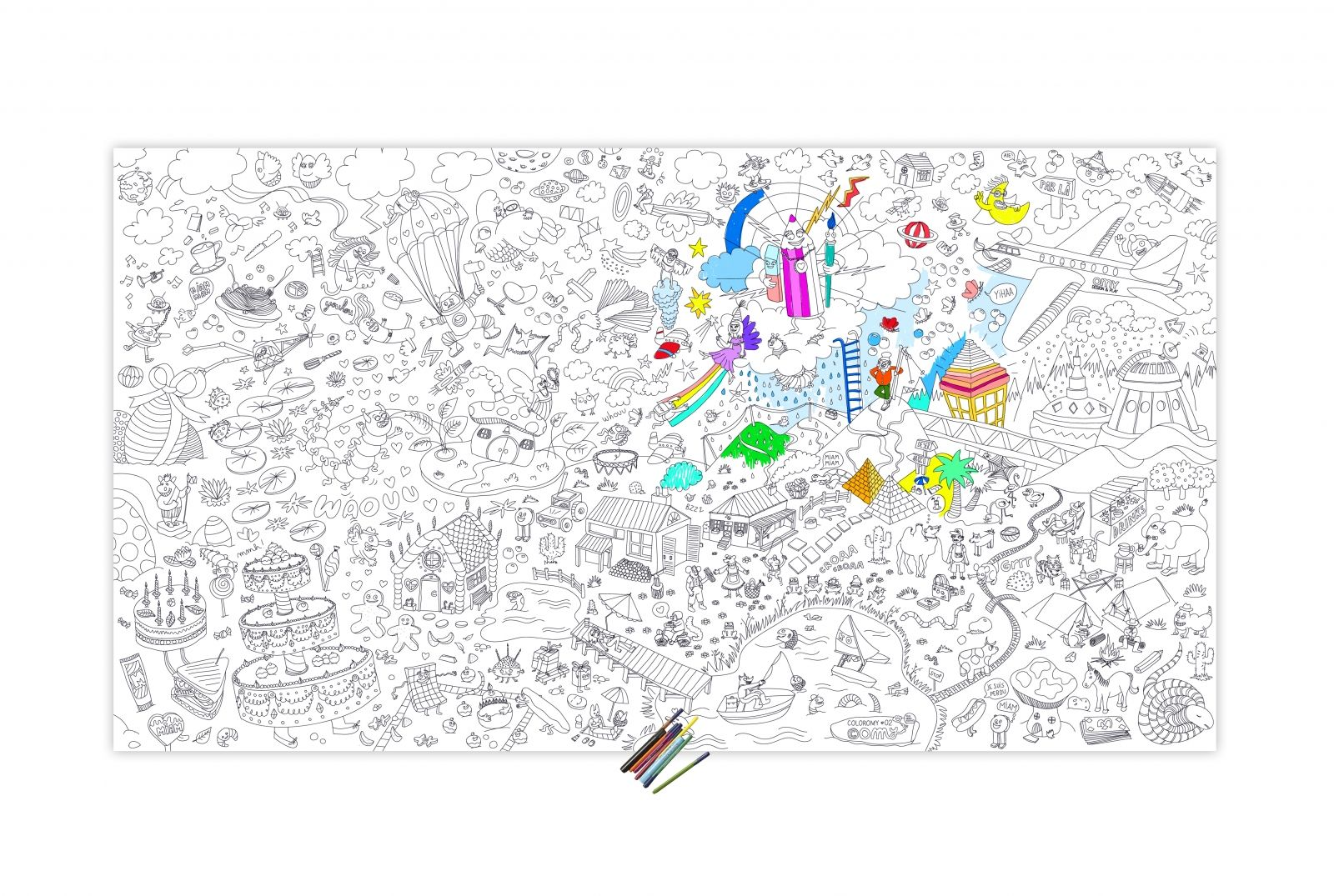 Coloriage Geant Omy Rouleau Papier Poster Acheter Vente Coloriage Geant Coloriage Colorier