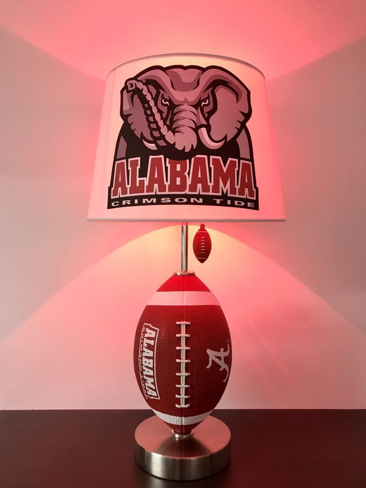 Alabama Crimson Tide Lamp Football Light College Lamps Home Garden Lighting Ceiling Fans Ebay