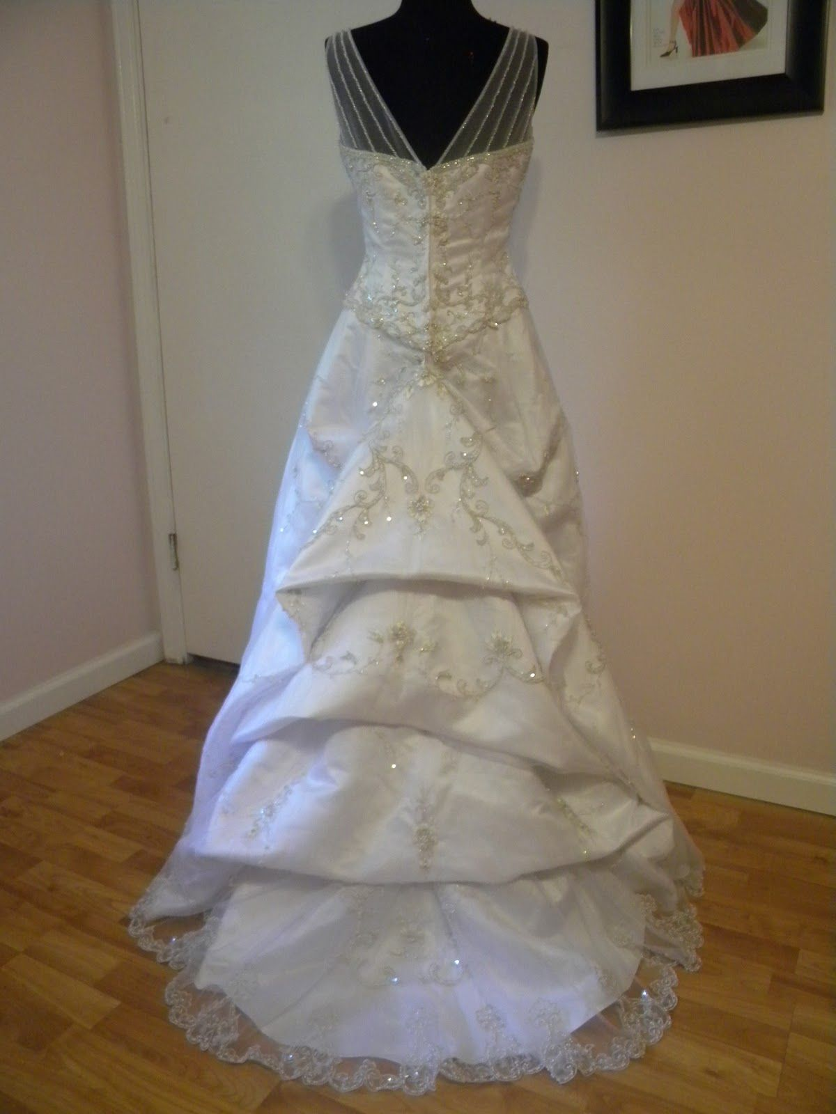 cathedral train 1 6 wedding dress bustletrumpet