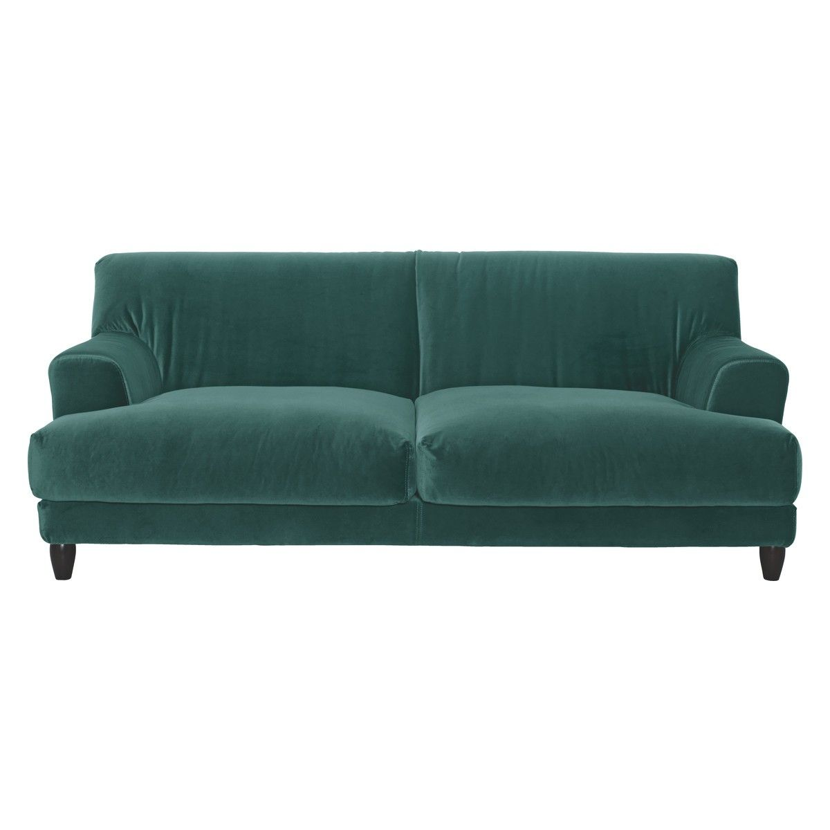 ASKEM Emerald Green Velvet 3 Seater Sofa