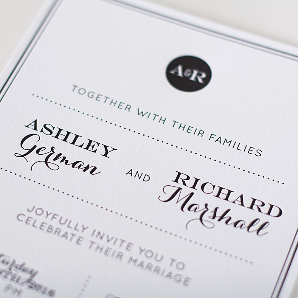 Modern Elegance Is Always A Classic Style Personalize Your Invitations And Initials For