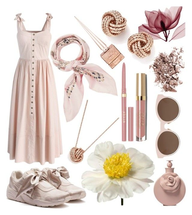 """""""Summer Dusk calling...•••..."""" by chantellexxxx ❤ liked on Polyvore featuring Chicwish, Manipuri, Puma, Bloomingdale's, Christian Louboutin, Stila, Chantecaille and Christian Dior"""