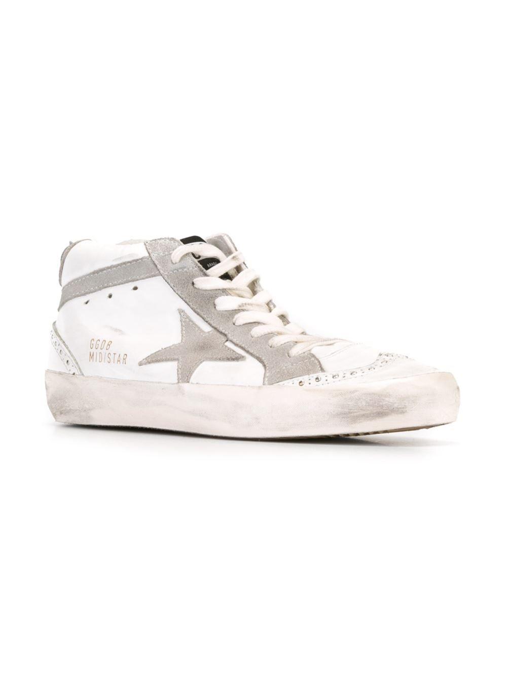 Oie D'or De Luxe Marque Sneakers Mi Étoiles - Gris xhbI7h