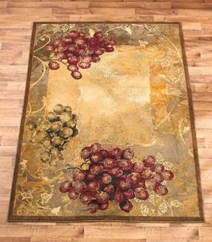 Vineyard Area Rug Rustic Farmhouse Decor Country Tuscan Style Homes House