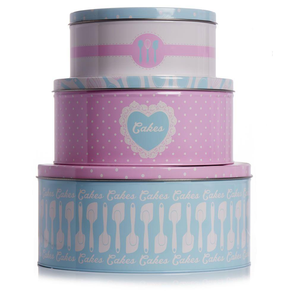 Round Tins Set 3pk   Cake tins, Kitchen decor and Kitchens