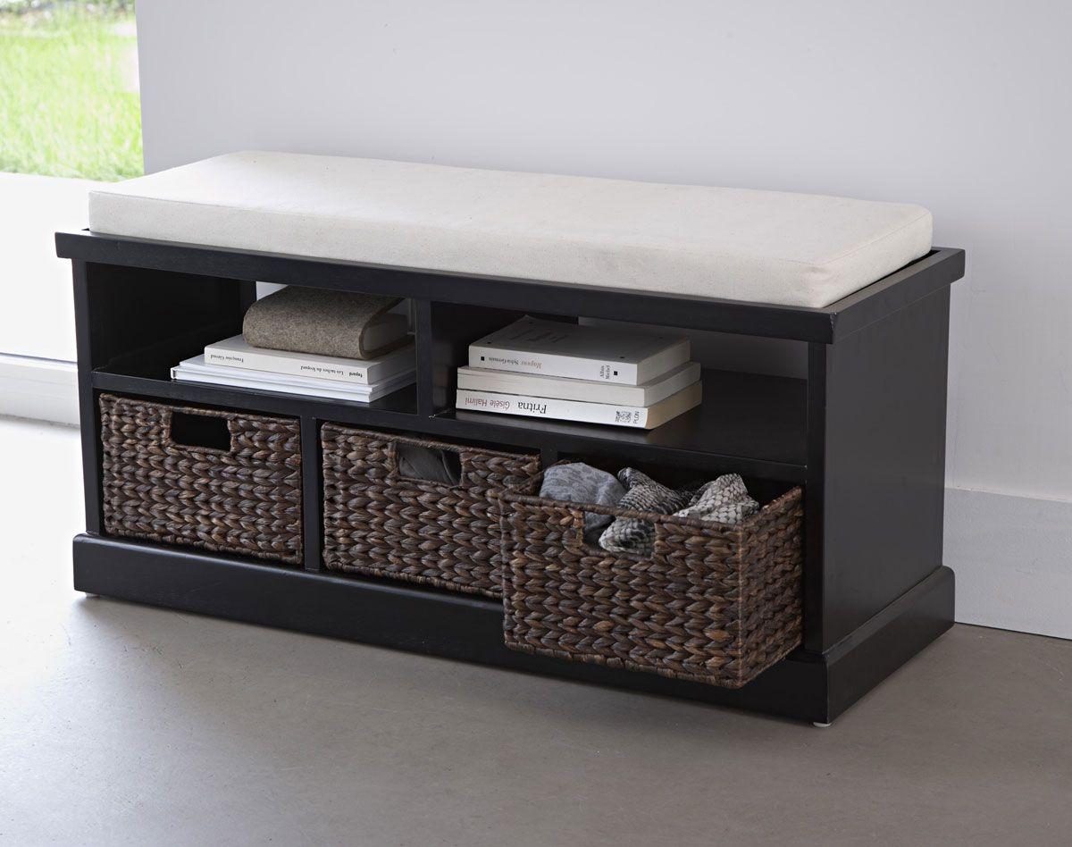 Banc avec 3 paniers | meuble chaussures | Pinterest | Bancs ...