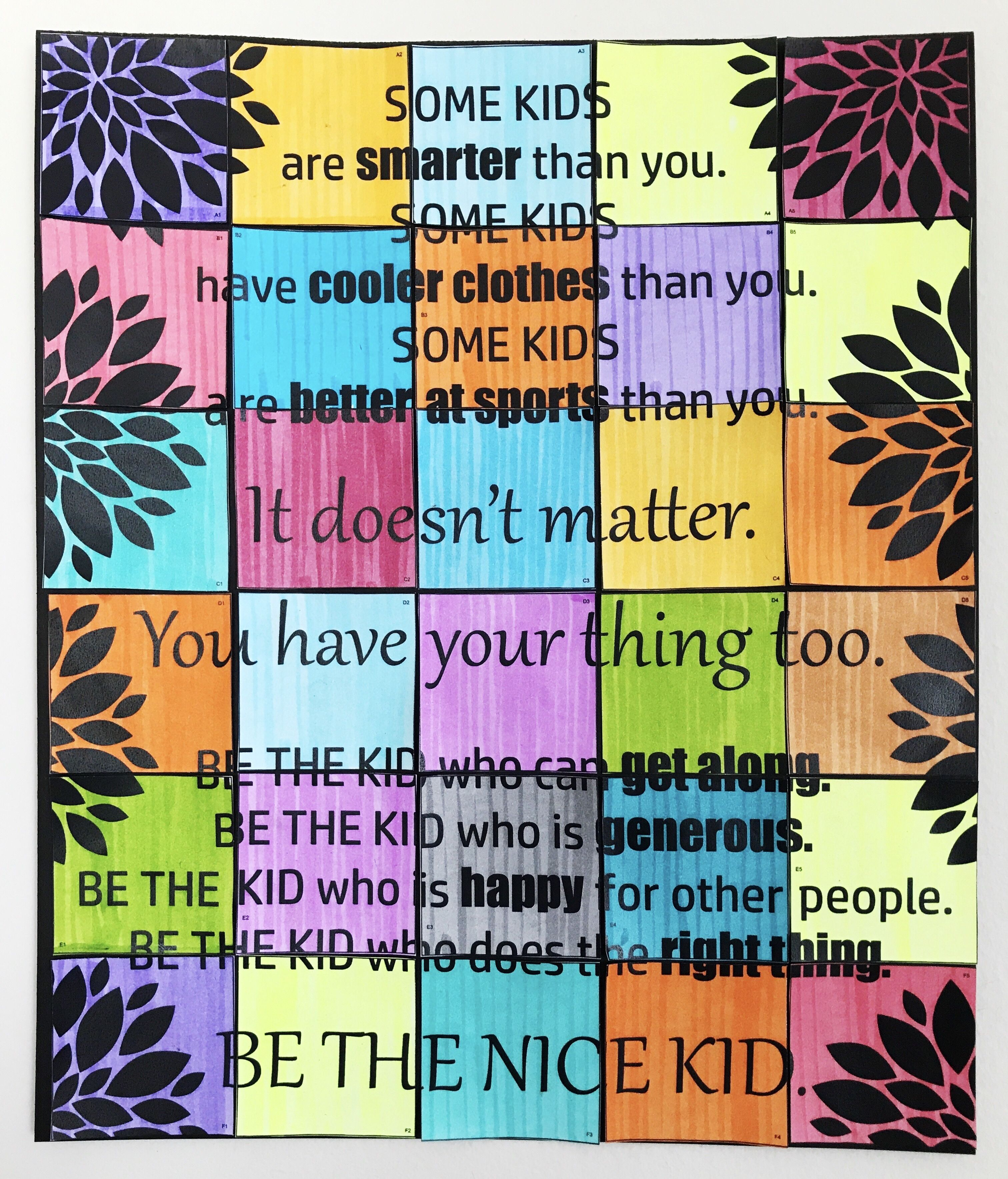 Be The Nice Kid Collaborative Art Poster