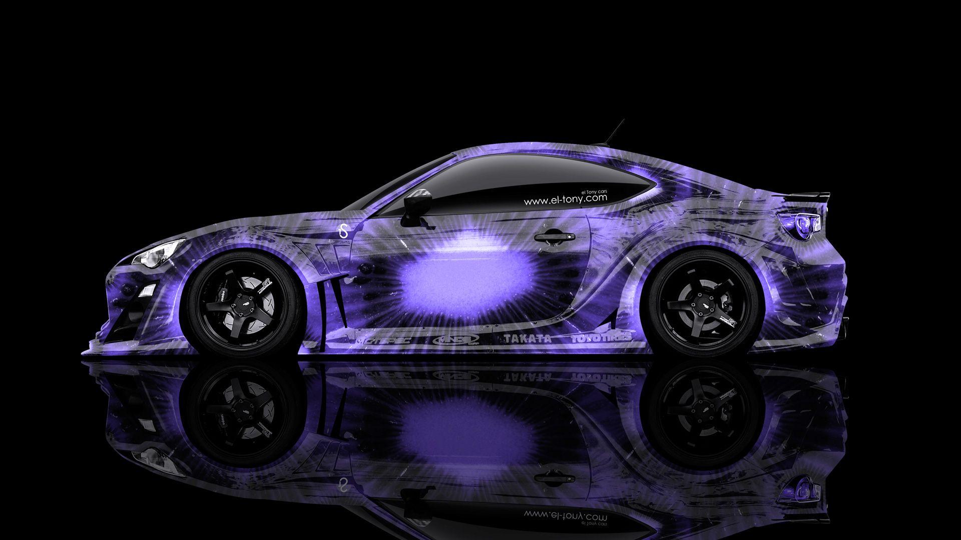 Purple 2014 Vehicles   Toyota GT86 JDM Side Violet Kiwi