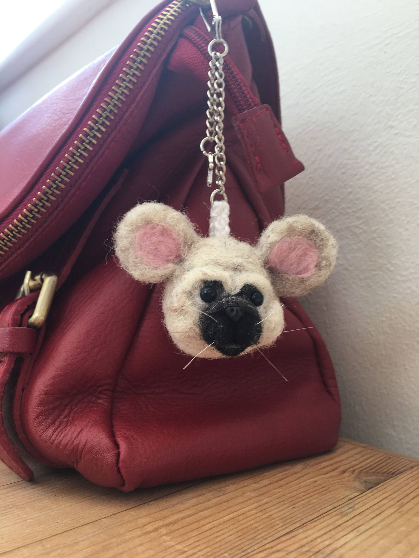Mouse Bag Charm, Handbag Handmade Unique Accessory, Pet animal lover gift by MomapawsHomecraft on Etsy
