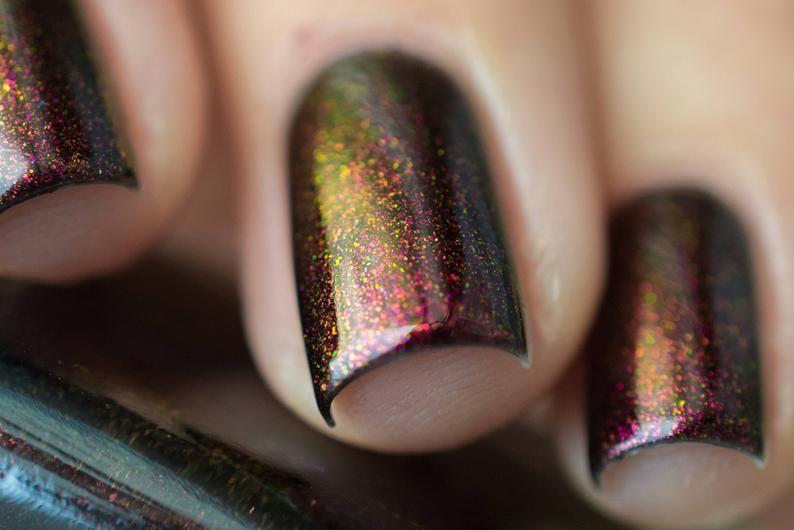 Lights Out – Rich Black Shimmer Nail Polish
