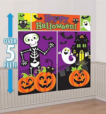 Cute Halloween Scene Setter Party City Pinterest Scene setters - halloween scene setters decorations
