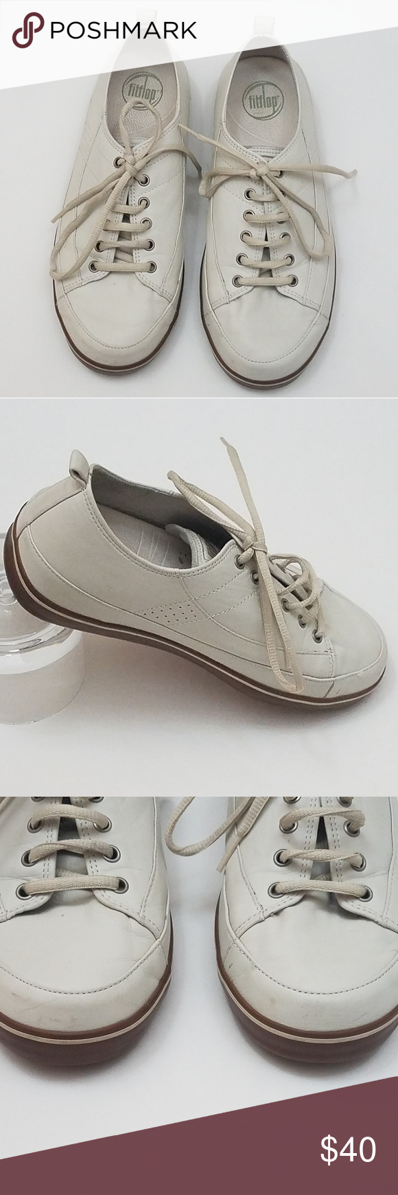 87ed1887d Fitflop Supertone White Leather Trainers Size 8 Fitflop Supertone Women s  Great White Leather Trainers Shoes Size