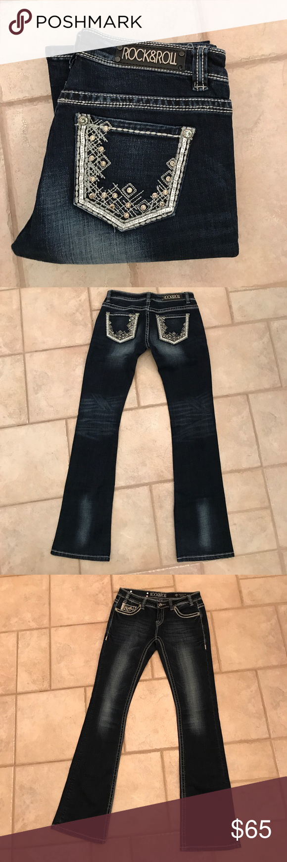 494e1bfa41e Shop Women s Rock   Roll Cowgirl size 28 Boot Cut at a discounted price at  Poshmark. Description  NWOT Rock   Roll Cowgirl jeans