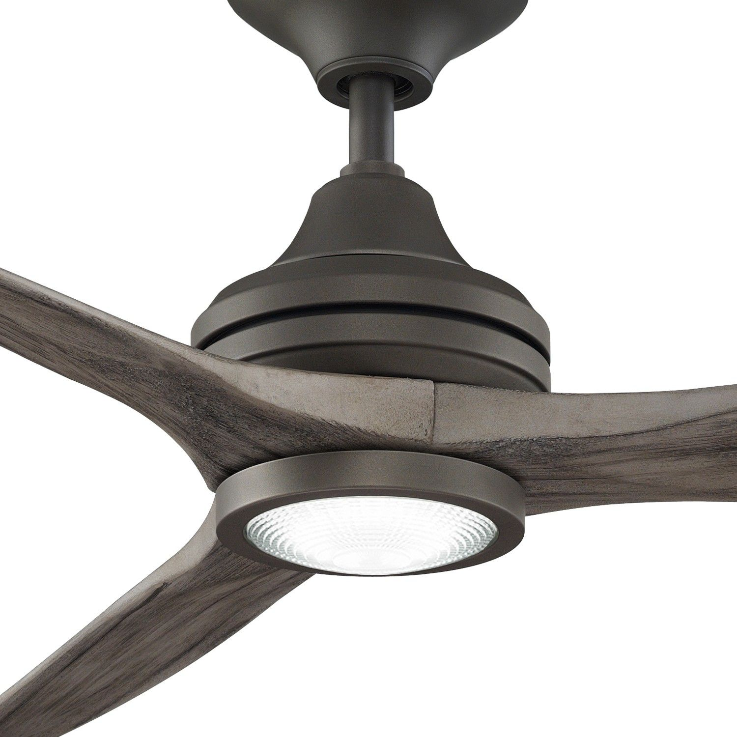 Matte Greige Finish Weathered Wood Blades Light Kit Detail Wood Ceiling Fans Ceiling Fan Ceiling Fans Without Lights