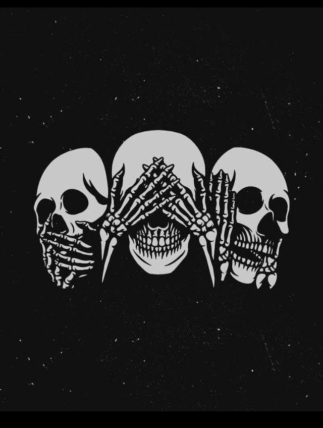Theblacknurse Goth Wallpaper Skeleton Art Skull Art