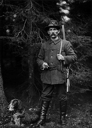 """August Sander  Gameskeeper, 1911-1914  8 x 10"""" Silver Print  Posthumous Print  Printed 1990"""