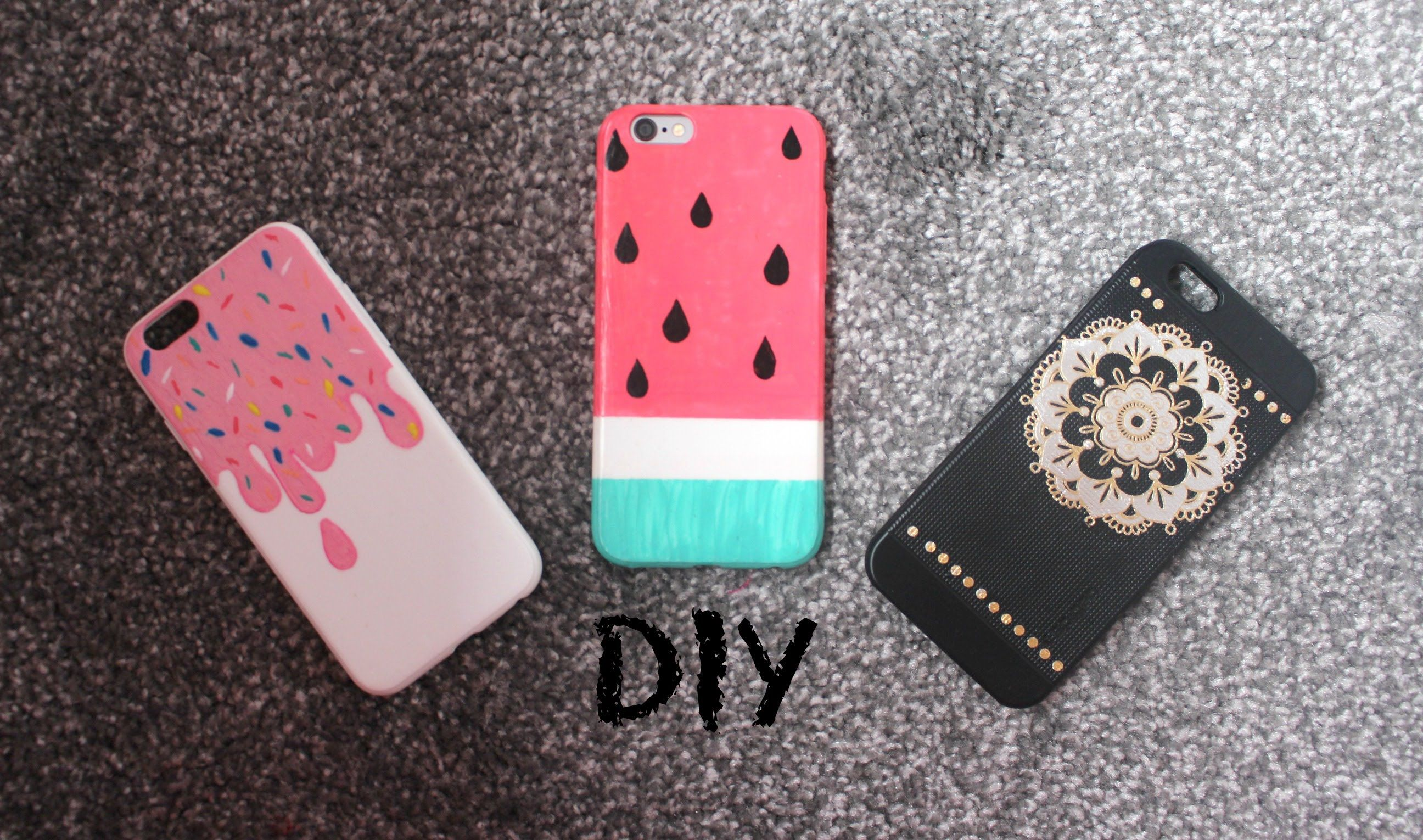 Diy colourful and easy summer phone case designs