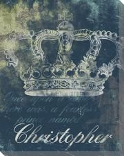 Personalized Blue Crown Wall Art