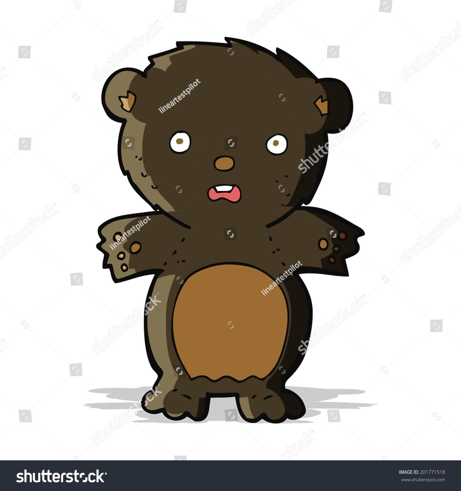 Frightened Black Bear Cartoon Ad Sponsored Black Frightened Cartoon Bear Bear Cartoon Art Design Creative