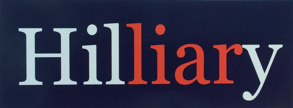 Hilliary bumper sticker