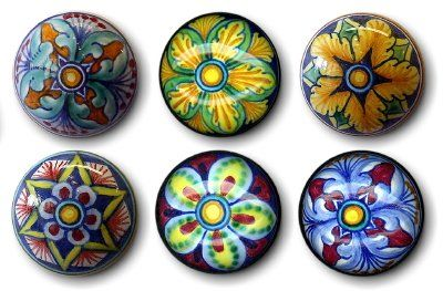 CORK STOPPERS: Set of SIX assorted Hand Painted Cork Stopper from Deruta [#TAP-SET]