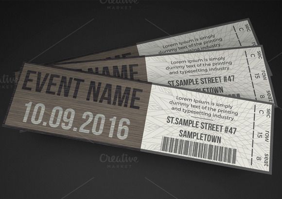 Multipurpose Stylish Event Ticket Creativework  Invitation