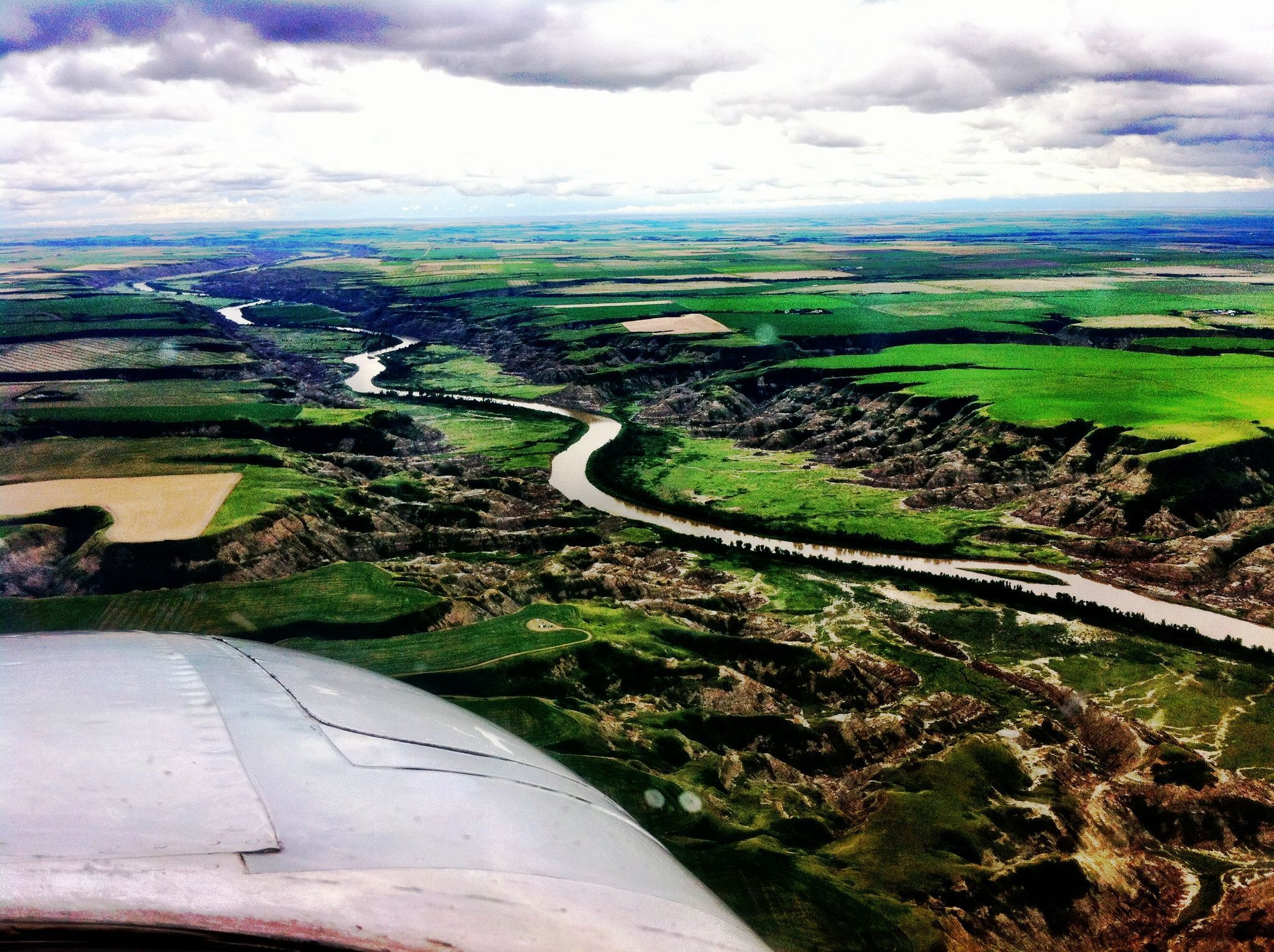 Beautiful day for flying along the river!