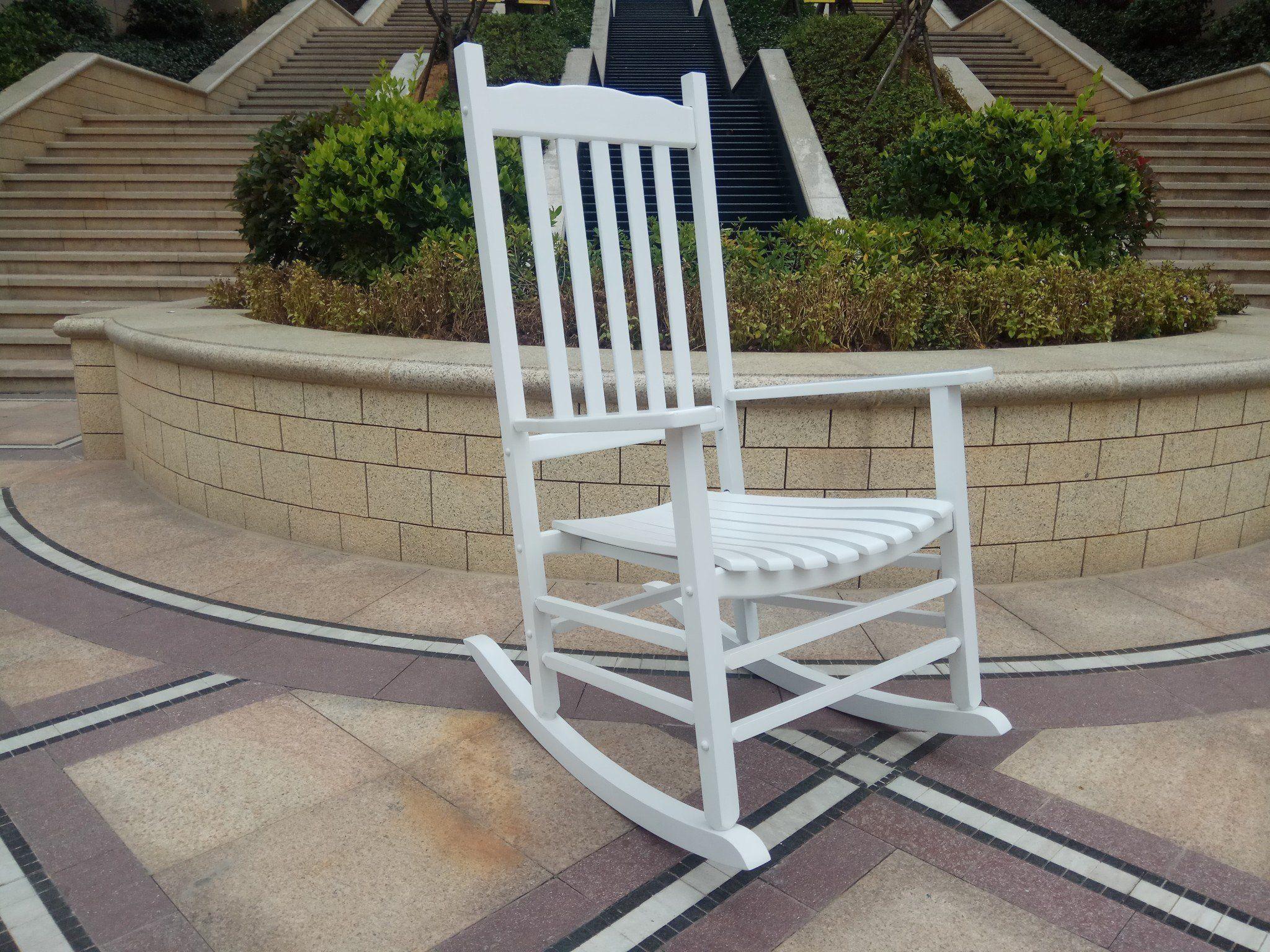 Rocking Rocker A001WT White Porch Rocker/Rocking Chair