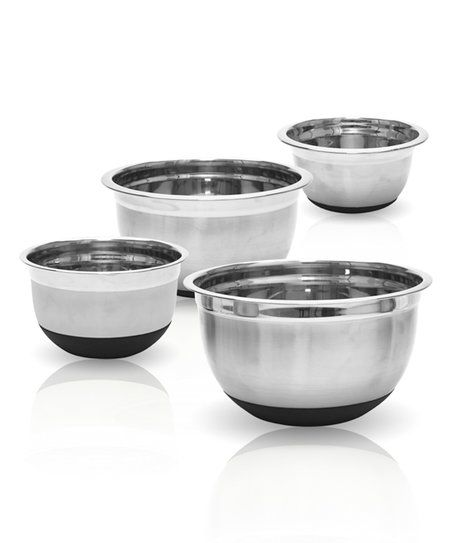 Distinguished by their non-skid silicone bases, these mixing bowls are a convenient addition to your kitchen supplies.