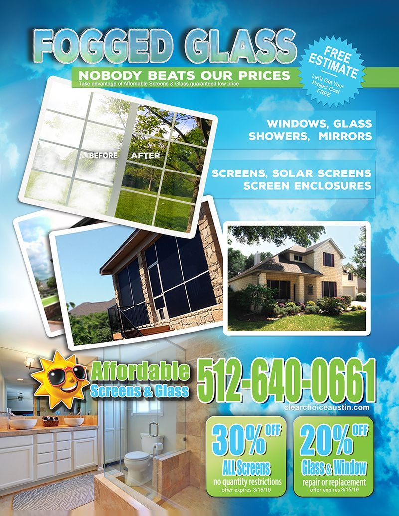 Save On Window And Glass Screens And Solar Screens With This Ad From Affordable Screens Glass The Clear Choice For Ev Solar Screens Screen Enclosures Solar