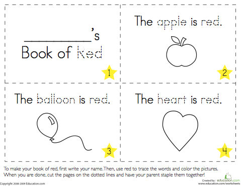 Printable Color Books For Preschoolers Preschool Worksheets Preschool Books Preschool Printables