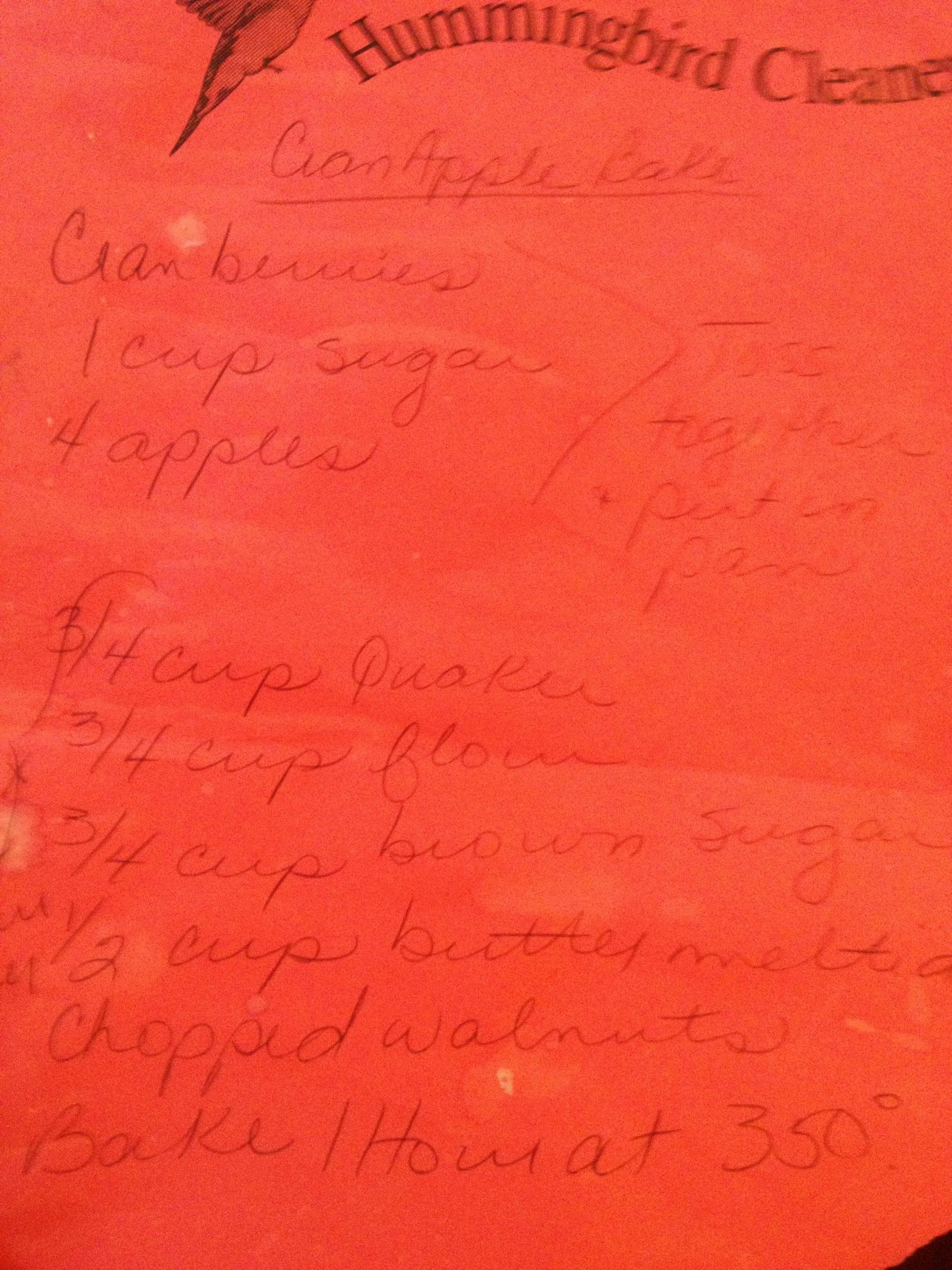 Crabapple bake recipe