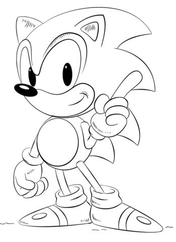 Sonic Dibujo Para Colorear Sonic Mis 7 Anos Lauty Colores