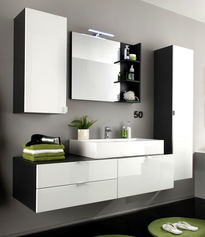 Details zu Badmöbel Badezimmer Set Bad komplett MIT